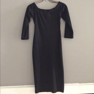 Zara Off-The-Shoulder Black Dress