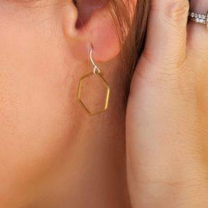 Brass Drop Earrings.