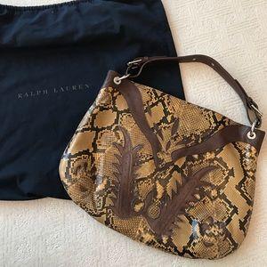 Ralph Lauren Collection Python hobo bag