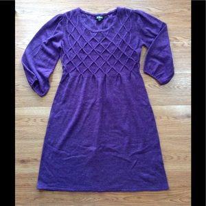 AGB Dress - Purple Sweater Dress