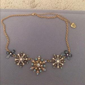 Betsy Johnson Snowflake Necklace