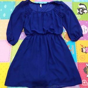 Dresses & Skirts - Mid sleeve Navy Blue Dress