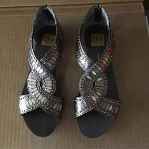 Dolce Vita Sandal/Shoe Dark Silver --VG condition