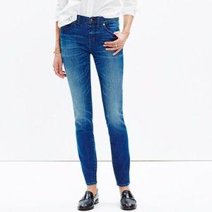 "Madewell 8"" skinny skinny jeans in sunnyside wash"
