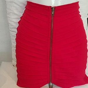 Urban Outfitters Silence and Noise Red zip skirt S
