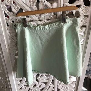 American Apparel Green Jean Skirt