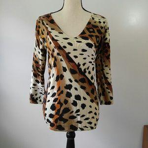 NWT Sweater Blouse 55% Silk Peck & Peck
