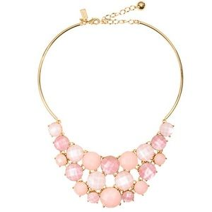 NWT Kate Spade pink stone bib necklace
