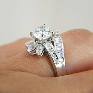 14k Gold plated Engagement Ring 1ct Round