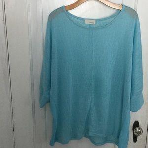 Sea glass blue knit sweater.