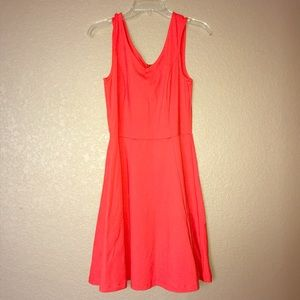Cynthia Rowley coral fit& flare dress