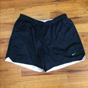 Nike mesh reversible shorts- navy/white size med