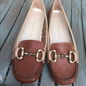 Women's Etienne Aigner Leather Loafers Size 7M NEW