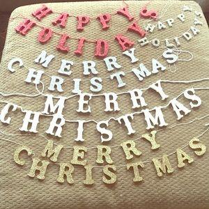 Christmas tree letter garland 🎄🎁🎅🏼