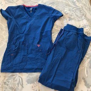 Royal Blue Scrubs set
