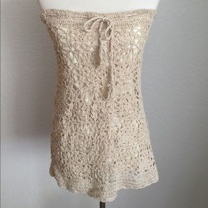 Crocheted Swimsuit Coverup with Lining