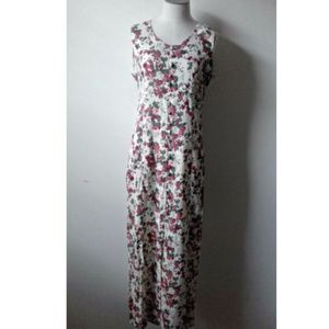 Jennifer Eden Vtg 90s Grunge Floral Maxi Dress 10