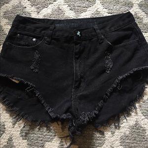 One Teaspoon Black Bandits Shorts size 26