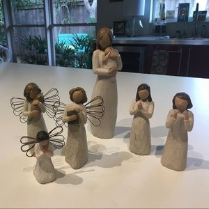 Willow Tree hand carved wooden figurines. Variety