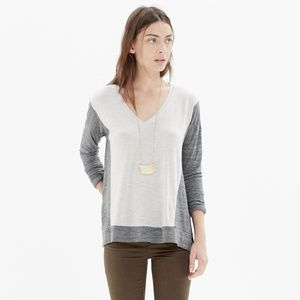 Madewell All-Around Tee in colorblock M