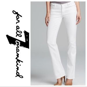 """💕SALE💕7 for all Mankind White Jeweled """"A"""" Pocket"""