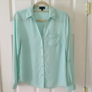 The Limited Long Sleeve Blouse, Mint, Size S