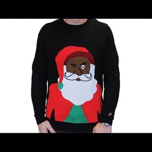 zanygoose sweaters black santa clause ugly christmas sweater nwt