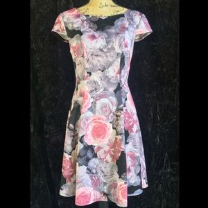 Cap sleeve pink dress