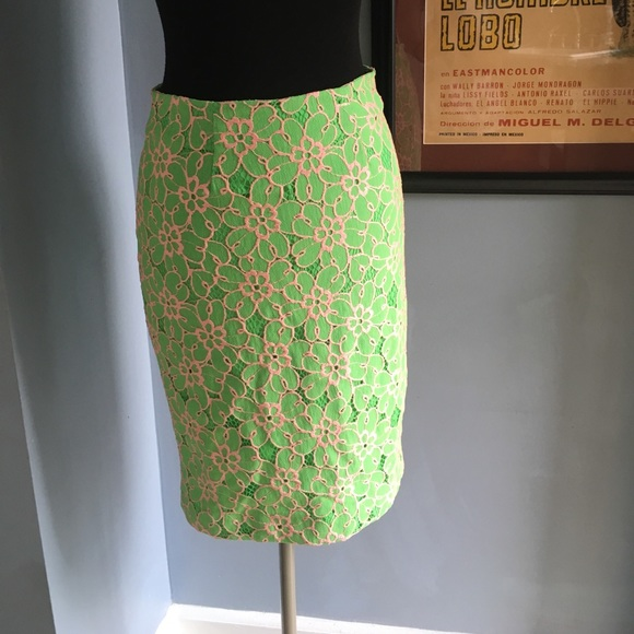 26fbd961d Lilly Pulitzer Dresses & Skirts - Hyacinth Lilly Pulitzer Skirt embroidered  overlay