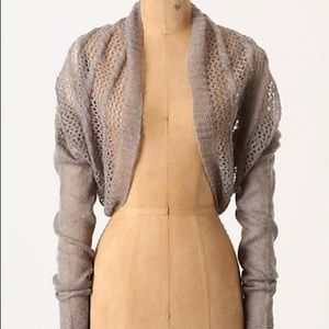 Anthropologie Gray Shrug by Knitted & Knotted