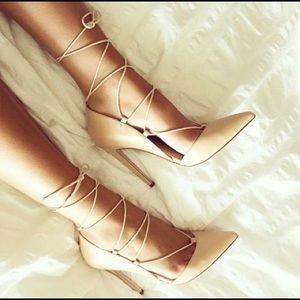 ASOS Nude Lace Up Pumps