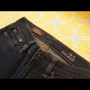 J crew toothpick jeans dark wash