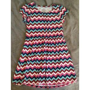 Girls' Chevron Print Dress