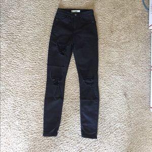 Topshop Jamie jeans black holes