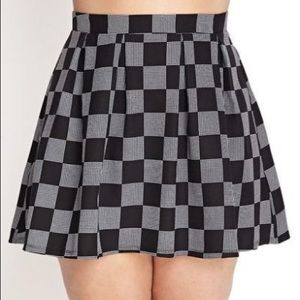 Forever 21 Plus Checkered Window Pane Skirt 3x