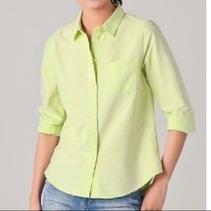 {madewell} bright yellow/green button down oxford!