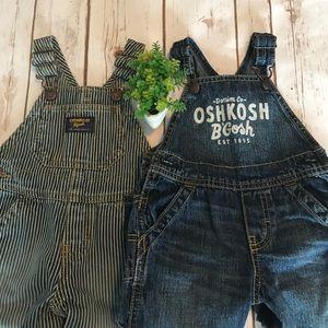 Other - Baby Osh Kosh Denim Long Pant Overall Bundle