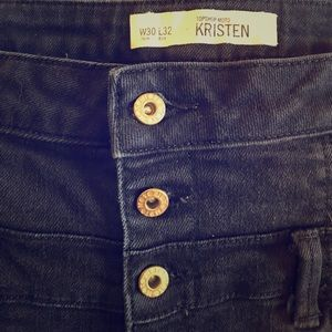 Topshop Kristen moto black jeans
