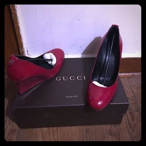 Red Gucci shoes