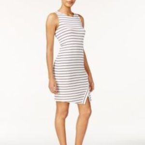 Kensie striped layer hem dress size S 🍭
