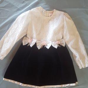 Black lace dress Rose Cottage