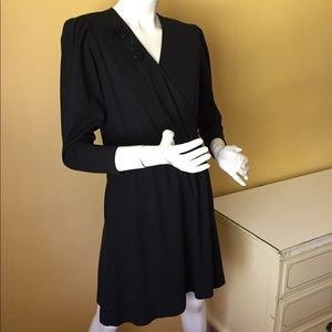 Vintage New Looks faux wrap dress