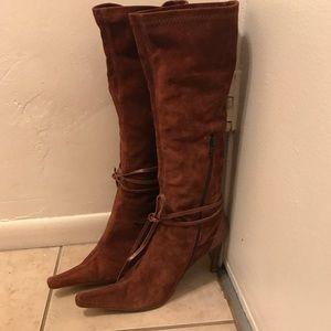 "Charles David Leather Sole Boots 3"" heel SZ 10"