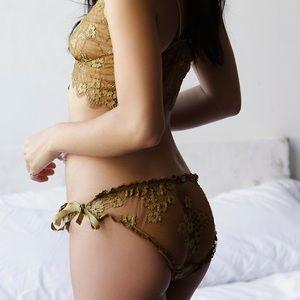 FLL Skivvies Honeysuckle Panty Gold Honey LG