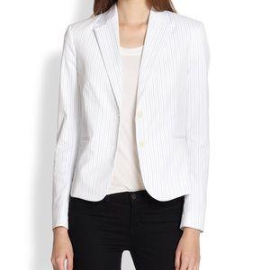 Theory white striped blazer