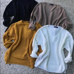 Tops - Khaki Knitted Sweater