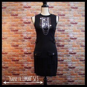 Nanette Lepore Embellished SleevelessSweater Dress