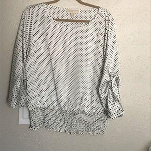 Michael Kors polka dot silly blouse, L