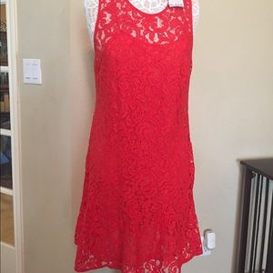 Michael Kors red lace dress