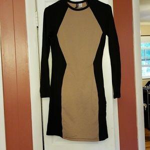 Black & brown dress